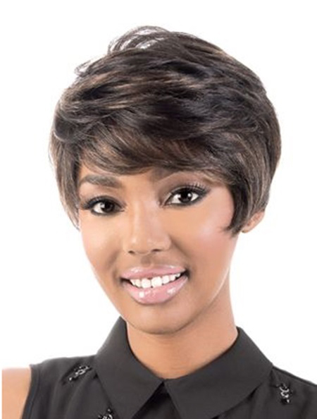 Short Wavy Classy African American Wigs