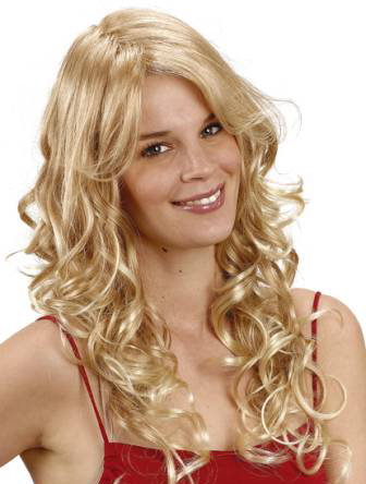 Fashionable Blonde Curly Synthetic Wigs