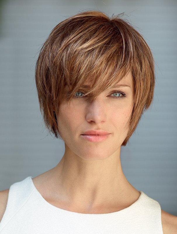 Remy Human Hair Auburn Sleek Bob Wigs