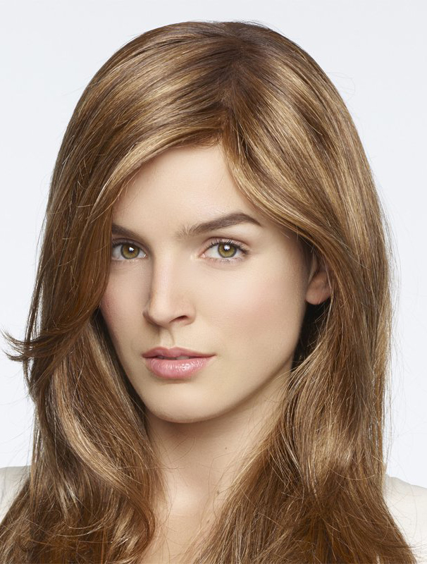"Blonde Straight 18"" Trendy Monofilament Wigs"