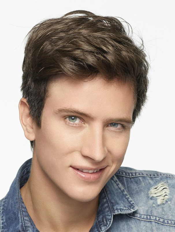 Brown Synthetic New Men Wigs