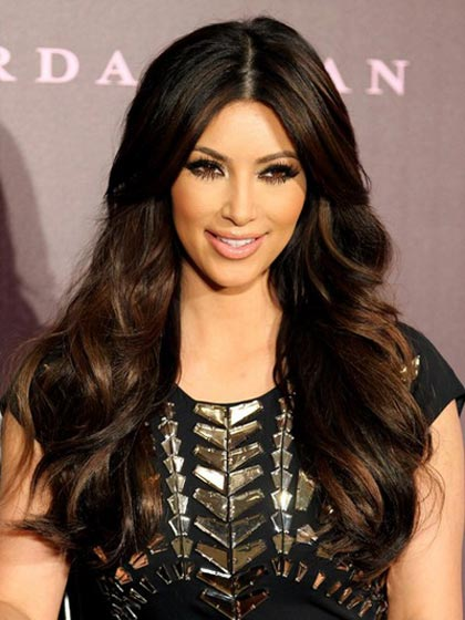 Long Wavy Full Lace Black Celebrity Hairstyle Wigs