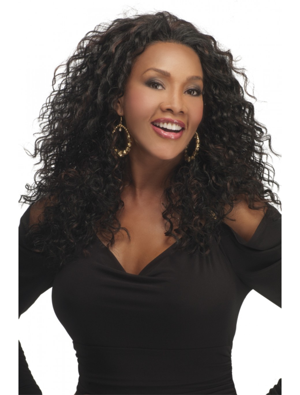 Long Curly Monofilament Synthetic Affordable Half Wigs