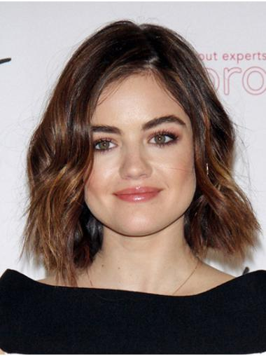 """Wavy 12"""" Ombre/2 Tone Chin Length Bobs Lucy Hale Wigs"""