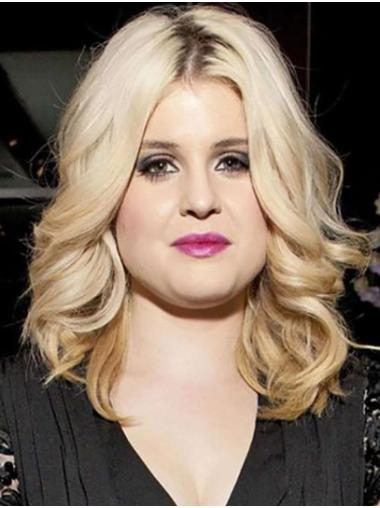 """Curly 14"""" Blonde Shoulder Length Without Bangs Kelly Osbourne Wigs"""