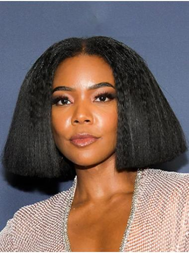 "Yaki 12"" Black Chin Length Bobs Gabrielle Union Wigs"
