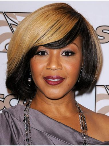 """Straight 12"""" Ombre/2 Tone Chin Length Bobs Erica Campbell Wigs"""