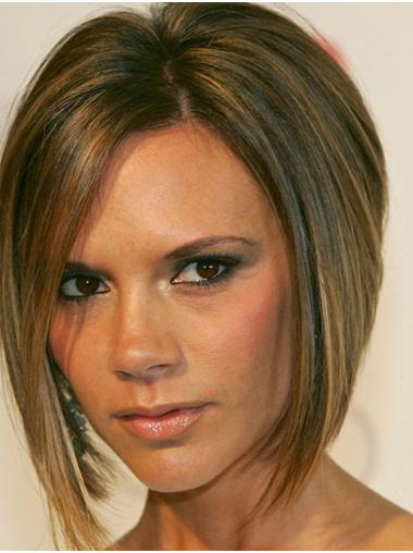 """Straight 12"""" Ombre/2 Tone Chin Length Bobs Victoria Beckham Wigs"""