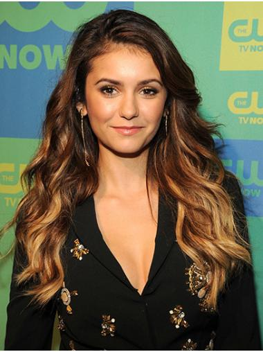 """Wavy 22"""" Ombre/2 Tone Long Without Bangs Nina Dobrev Wigs"""