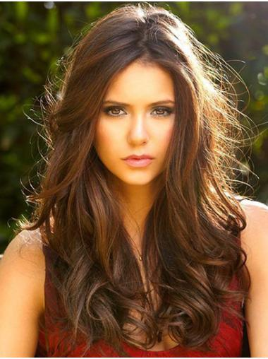 "Curly 20"" Brown Long Without Bangs Nina Dobrev Wigs"