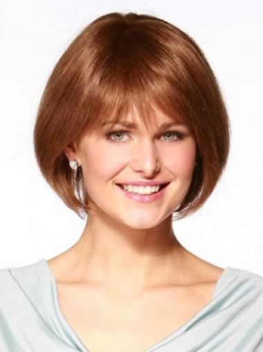 Soft Short Remy Human Hair Wigs For Cancer