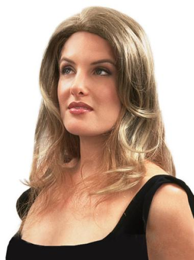 Medium Wavy Great Blonde Human Hair Hairpieces