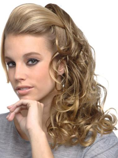 Synthetic Affordable Curly Long Hairpieces