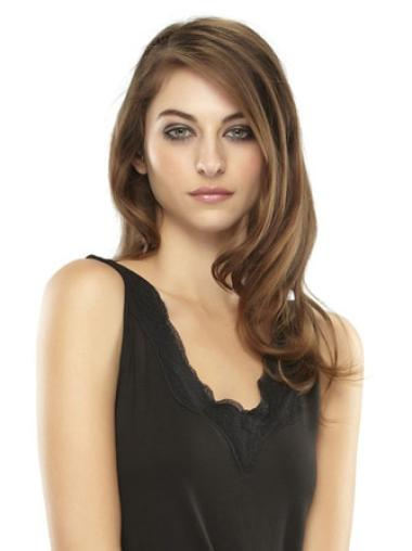 Medium Wavy Popular Brown Synthetic Hairpieces