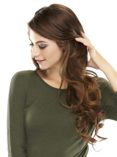 Remy Human Hair Convenient Wavy Long Hairpieces