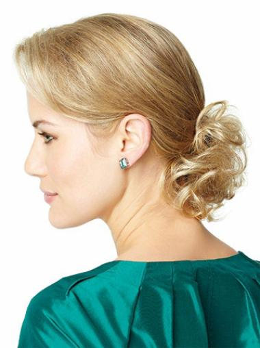 Short Curly Great Blonde Synthetic Hairpieces
