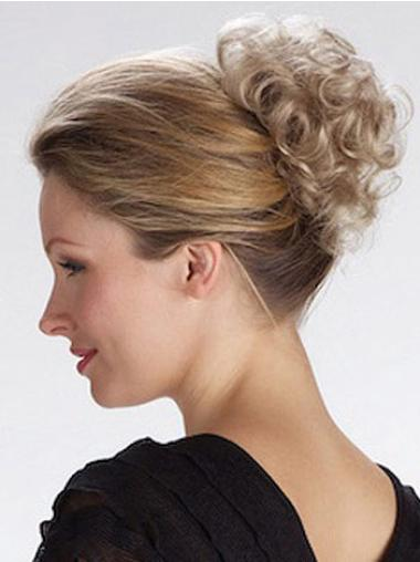 Short Curly Classy Blonde Synthetic Hairpieces