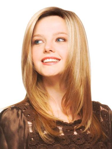 Synthetic Soft Straight Long Hairpieces