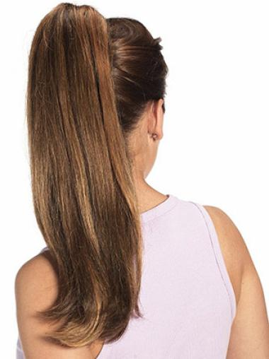 Remy Human Hair 2014 Straight Clip-In Ponytails