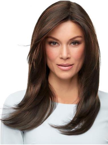 """Long 18"""" Convenient 100% Hand-tied Without Bangs Synthetic Wigs"""
