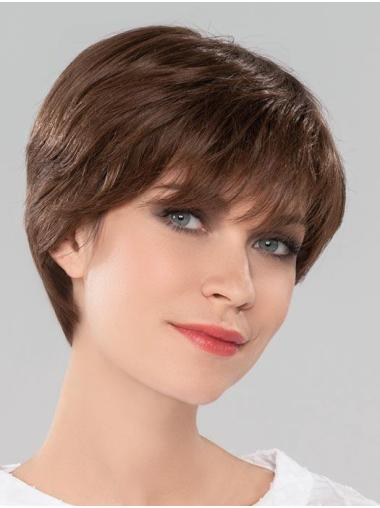 "8"" Straight Monofilament Bobs New Human Hair Wigs"