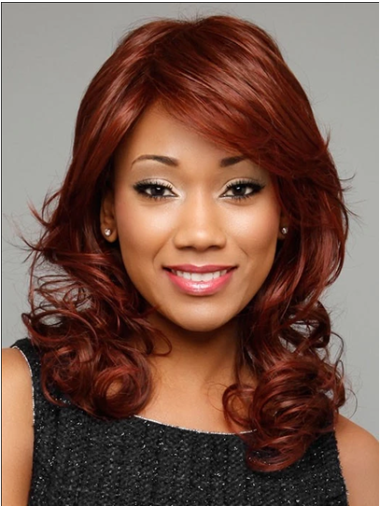 """Curly Red With Bangs 14"""" African Hairstyles"""