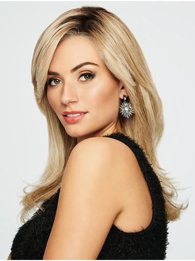 """Blonde 16"""" Straight Synthetic Layered Ladies Wigs"""