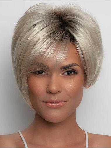 """Straight Blonde With Bangs 6"""" Hairstyles For Black Women"""