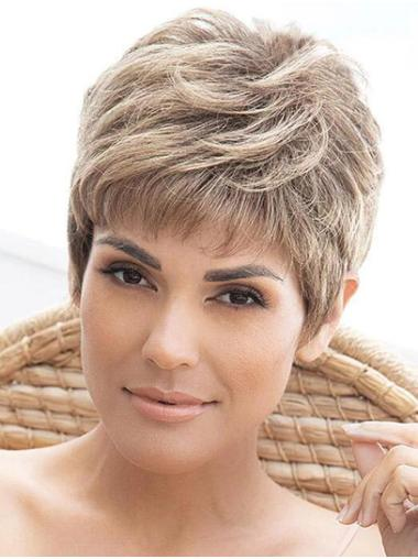 """Straight Grey Layered 4"""" Wigs For Black Women"""