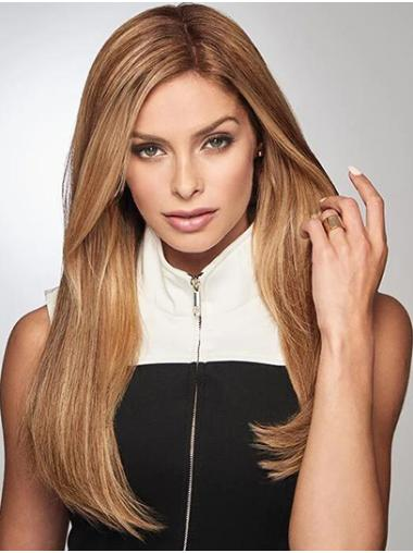 """18"""" 100% Hand-tied Without Bangs Blonde Human Hair Wigs"""