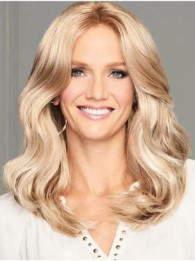 """Monofilament 14"""" Blonde Shoulder Length Without Bangs Synthetic Wigs Online"""