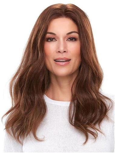 """18"""" 100% Hand-tied Without Bangs Brown Styled Human Hair Wigs"""