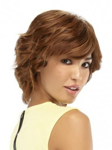 Auburn Curly Great Remy Human Hair Wigs