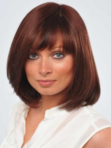 Red Straight Great Remy Human Hair Wigs