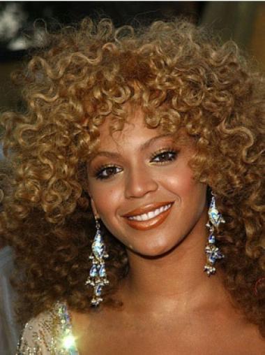 Beautiful Medium Curly Capless African American Wigs