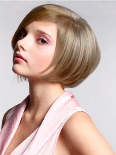 Synthetic Short Straight Beautiful Blonde Wigs