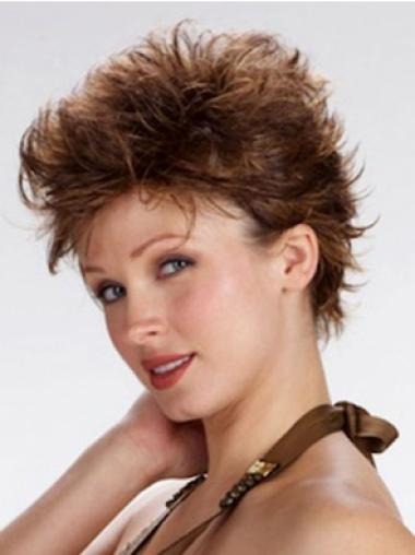 Full Lace Short Brown Trendy Wigs