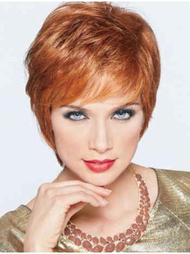 Short Straight Full Lace Synthetic Wigs For Cancer