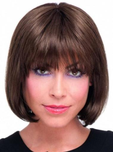 Remy Human Hair Auburn Lace Front Bob Top Wigs