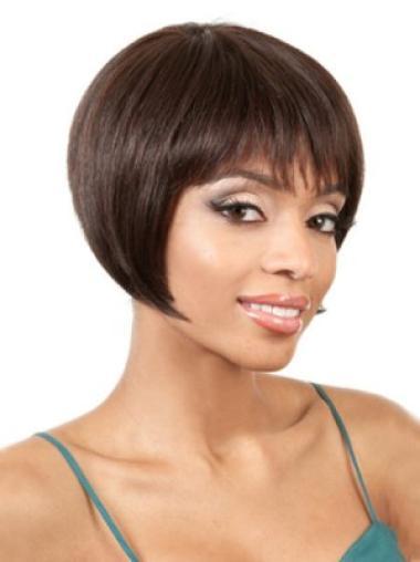 Short Remy Human Hair Wig