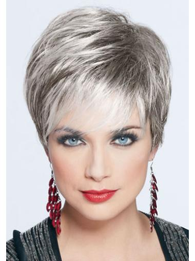 Straight Realistic Boycuts Synthetic Wigs