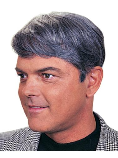 Synthetic Incredible Grey Men Toupees