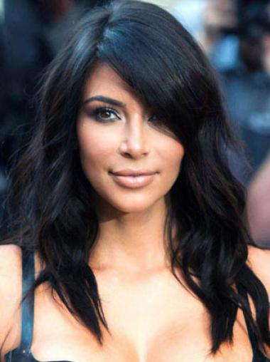 long Wavy black Trendy Kim Kardashian Wigs