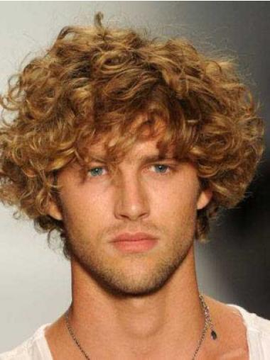 889472a26 Easy Blonde Curly Short Men Wigs, Cheap Mens Wigs