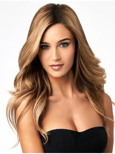 Blonde Without Bangs Wigs For Women Wavy