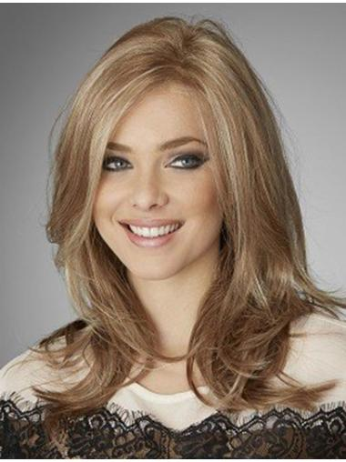 Wavy Long Blonde Without Bangs Online Remy Human Hair Wigs