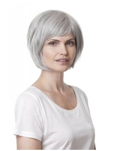 Chin Length Amazing Grey Wigs