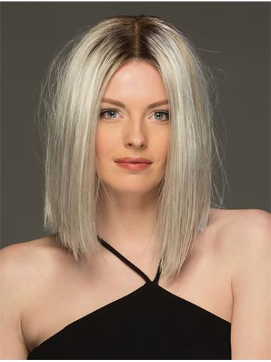 "Straight Ombre/2 tone Grey 14"" Handmade Wigs"