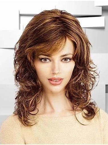 "Wavy 14"" Ombre/2 tone Classic Shoulder Length Women Lace Front Wigs"