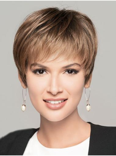 "Straight Blonde 8"" Boycuts Short Hairstyles For Women"